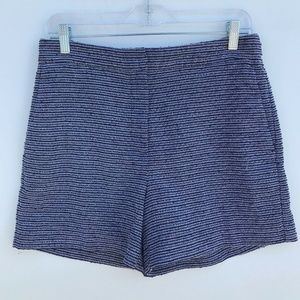 Ann Taylor High Rise Dressy Shorts Stripes #1358